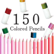 150 colored pencils