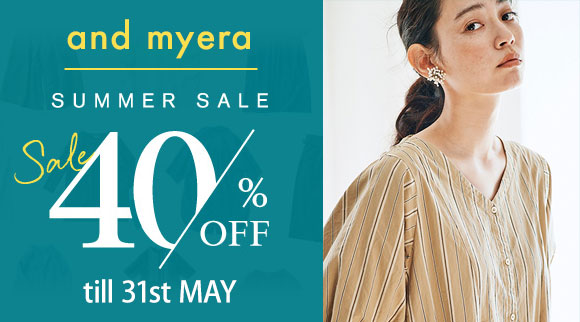 and myera 対象商品40%OFF